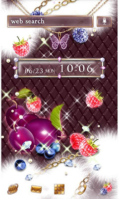 Girly Theme-Sparkle Fruits- - screenshot