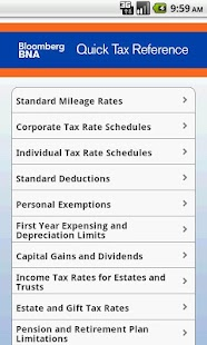 BNA Quick Tax Reference- screenshot thumbnail