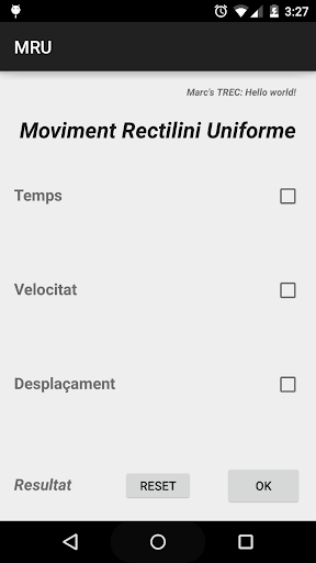 Moviment rectilini TREC