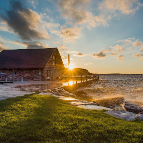 Shine On The Dock by Luke Collins - Buildings & Architecture Public & Historical ( wisconsin, anderson dock, sunset, door county, d7100, ephraim, nikon, september )