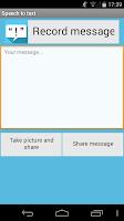 Screenshot of Speech to text