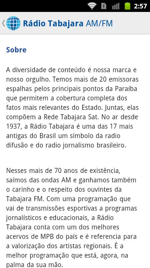 Radio Tabajara AM / FM - screenshot