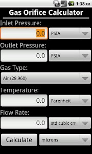 Gas and Liquid Orifice Calc screenshot 1