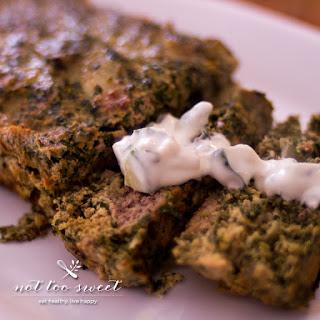 Greek Inspired Turkey Meatloaf.