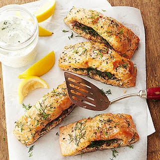 Double-Smoked Salmon with Horseradish Cream Recipe