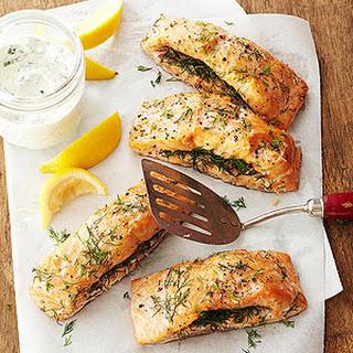 Double-Smoked Salmon with Horseradish Cream.
