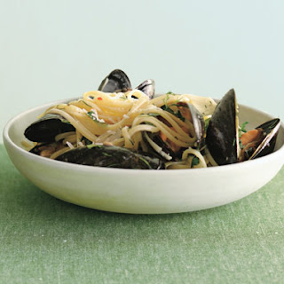Linguine with Mussels and Fresh Herbs.