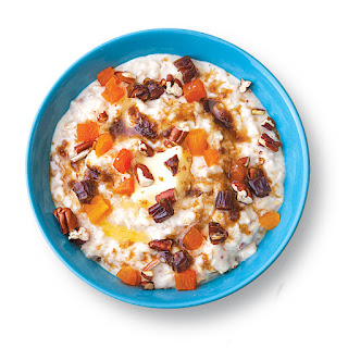 Spiced Buttermilk Oatmeal with Dried Fruit and Pecans