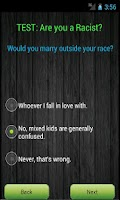 Screenshot of Test: Are you a racist?