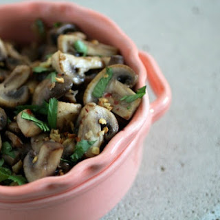 Stir-Fried Mushrooms with Lemongrass and Chilies.