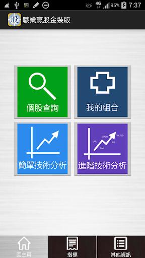 職業贏股 金裝版 2014 免月費 香港股票技術財經資訊分析