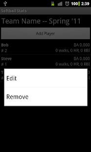 Softball Stats- screenshot thumbnail