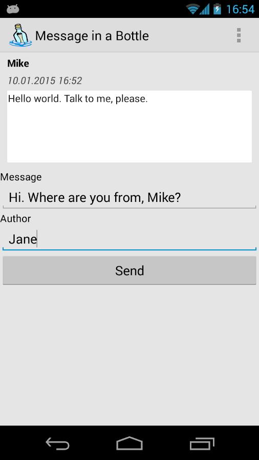 Message in a Bottle - screenshot