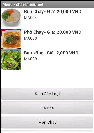 Share menu