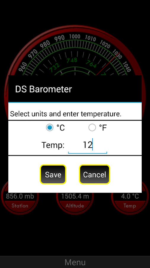 DS Barometer - Weather Tracker- screenshot