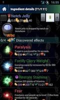 Screenshot of Skyrim Alchemy PRO
