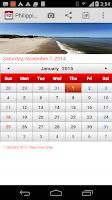 Screenshot of Philippines Calendar 2015