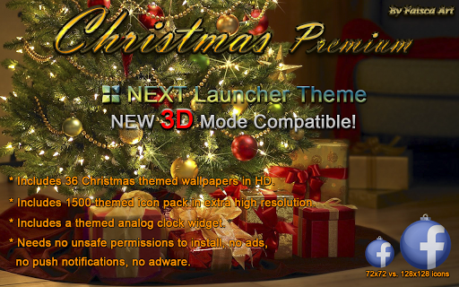 玩個人化App|Next Launcher Theme Christmas免費|APP試玩