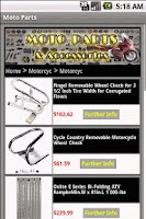Screenshot of MOTORCYCLE PARTS & Accessories