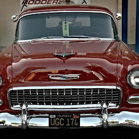Sexy in Red by Kimmarie Martinez - Transportation Automobiles ( red, antique )