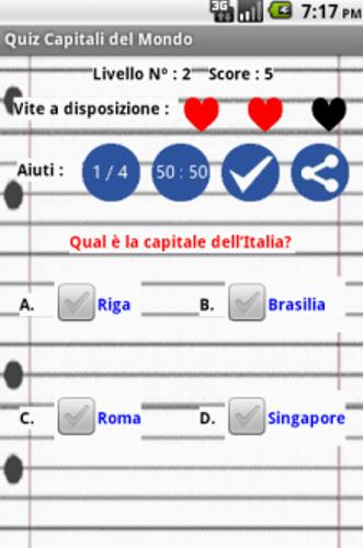 Gioco Quiz Capitali del Mondo