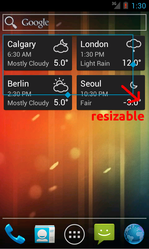 World Clock & Weather Widget - screenshot