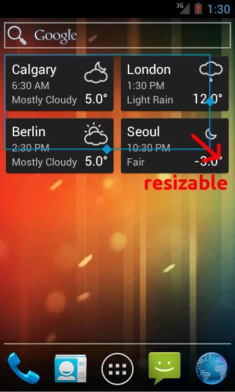 World Clock & Weather Widget - screenshot