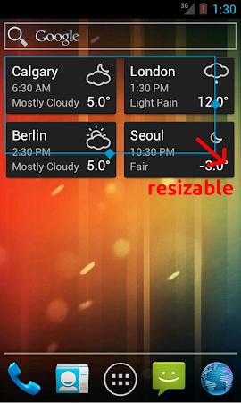 World Clock & Weather Widget 1.8.3 screenshot 530698