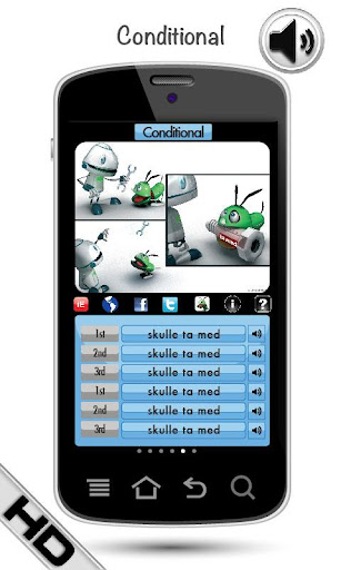玩教育App|学习瑞典语动词 HD LearnBots免費|APP試玩
