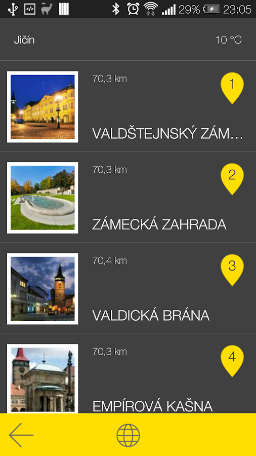 Jičín - audio tour- screenshot