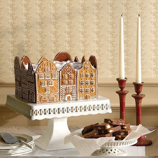 Gingerbread Town-Square Cake