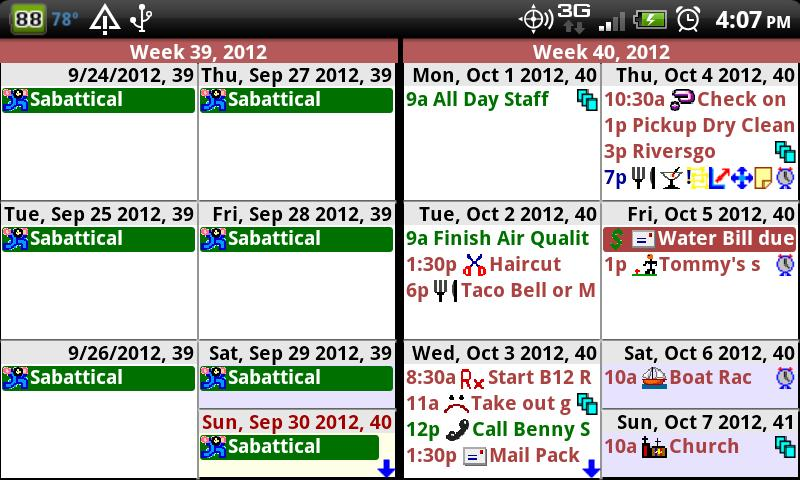 Pimlical Advanced Calendar/PIM- screenshot