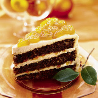 Gingerbread Layer Cake with Candied Kumquats Recipe