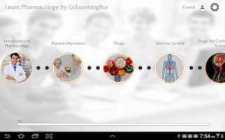 Screenshot of Learn Pharmacology