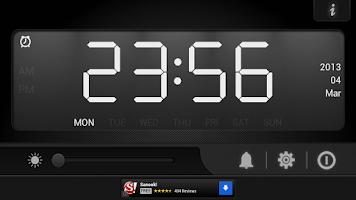 Screenshot of Bedside alarm clock