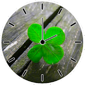 Lucky Clover Clock Widget