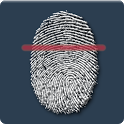 Fingerprint personality scan icon