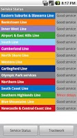 Screenshot of Sydney Rail Beta