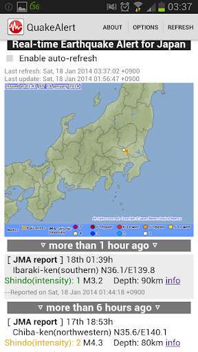 Japan Real-Time Quake Alert ++