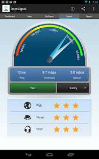 OpenSignal WiFi map, speedtest - screenshot thumbnail