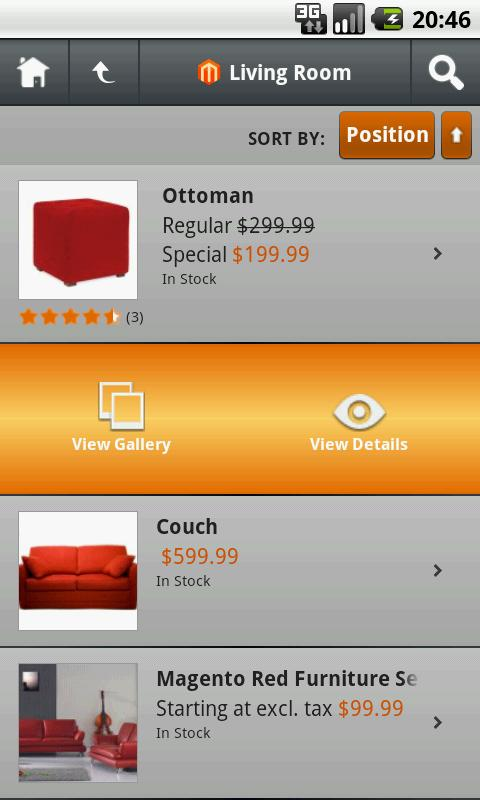 Magento Store Mobile - screenshot
