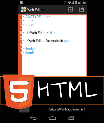 Web Editor Lite HTML Viewer