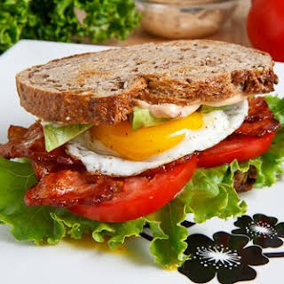 Avocado BLT with Fried Egg And Chipotle Mayo.