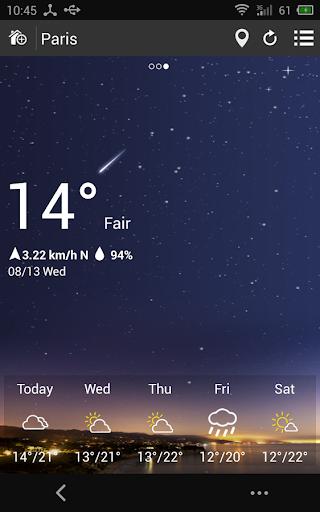 天氣預報桌面