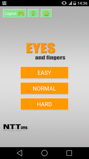 Eyes and fingers