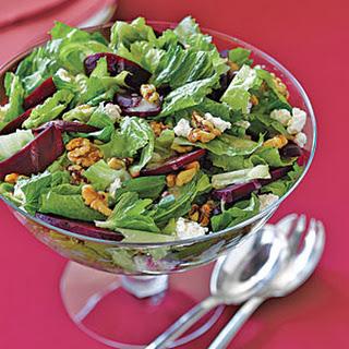 Roasted Beet, Walnut and Romaine Salad