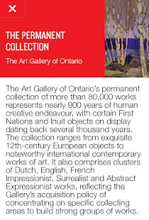 Art Gallery of Ontario- screenshot thumbnail