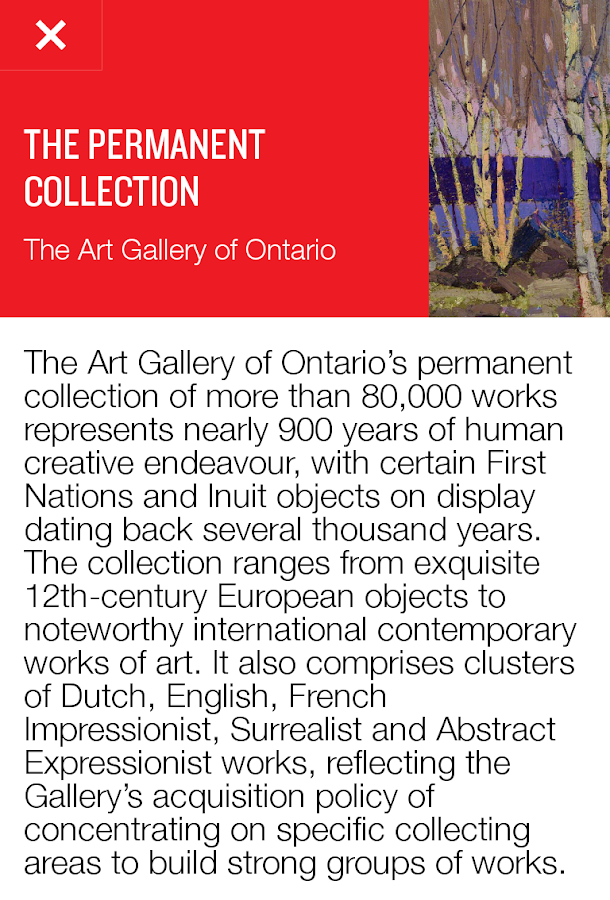 Art Gallery of Ontario - screenshot