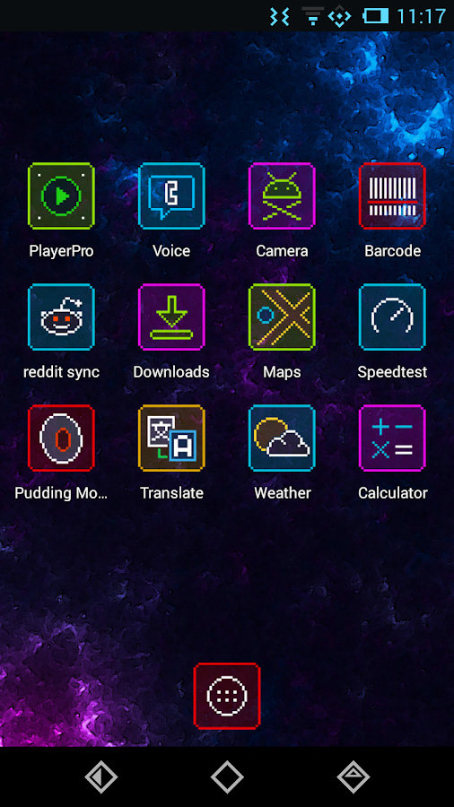 Neon Pixelz Go Nova Apex Theme - screenshot