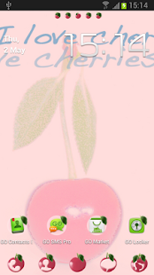 Go Launcher EX Theme Cherries- screenshot thumbnail